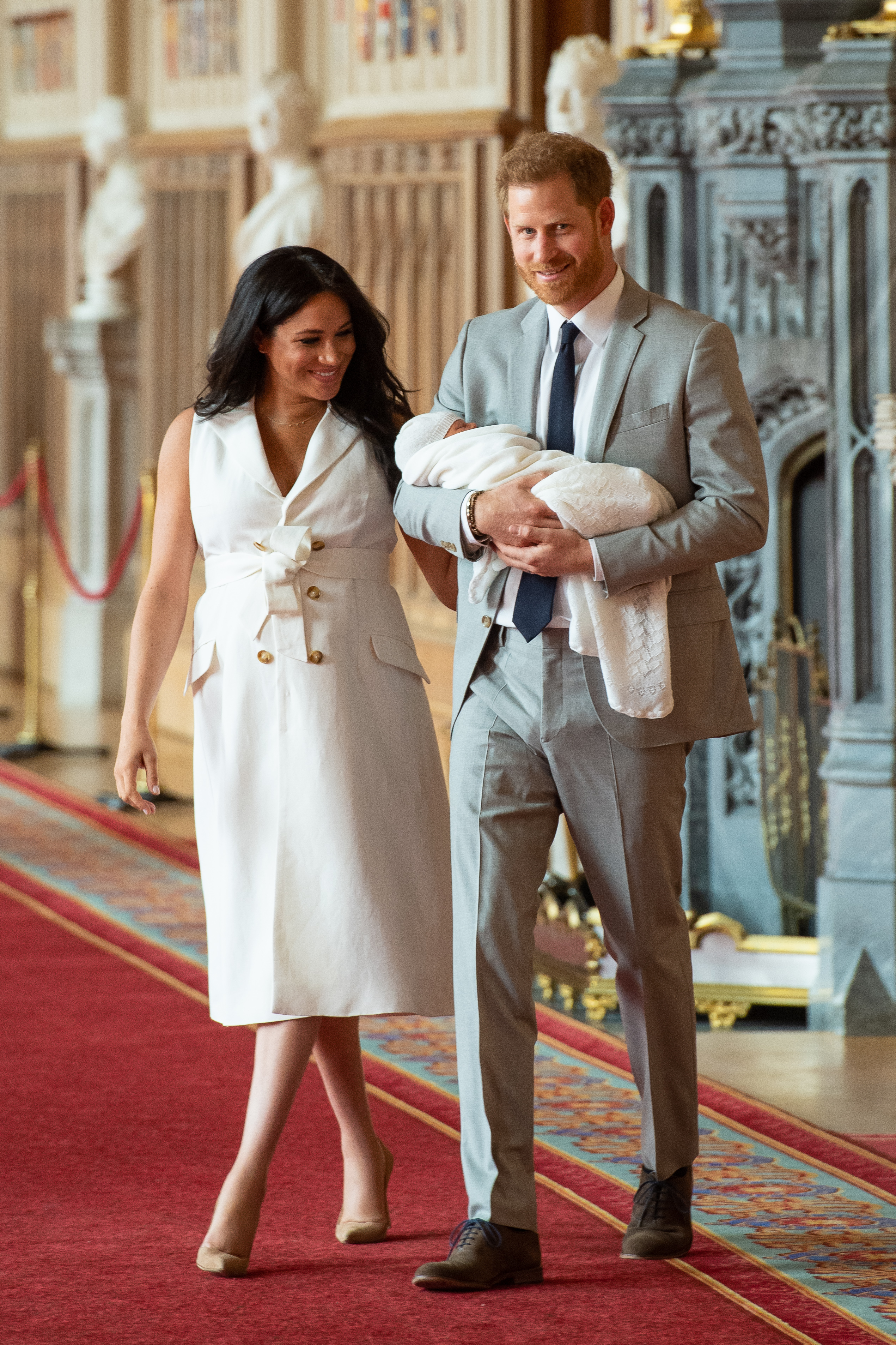 c9a47c299b3 How Meghan s baby debut outfit compares to her fellow royal mums
