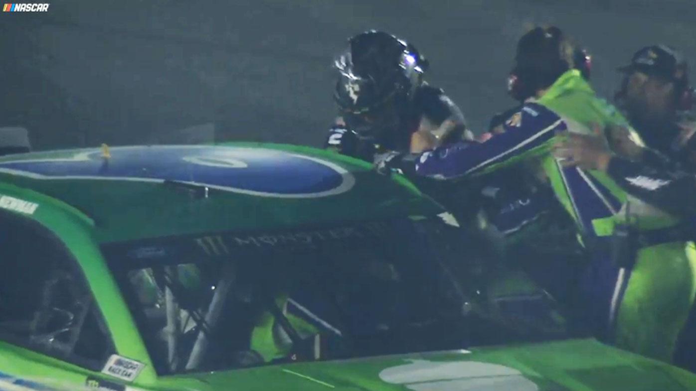 NASCAR punch up