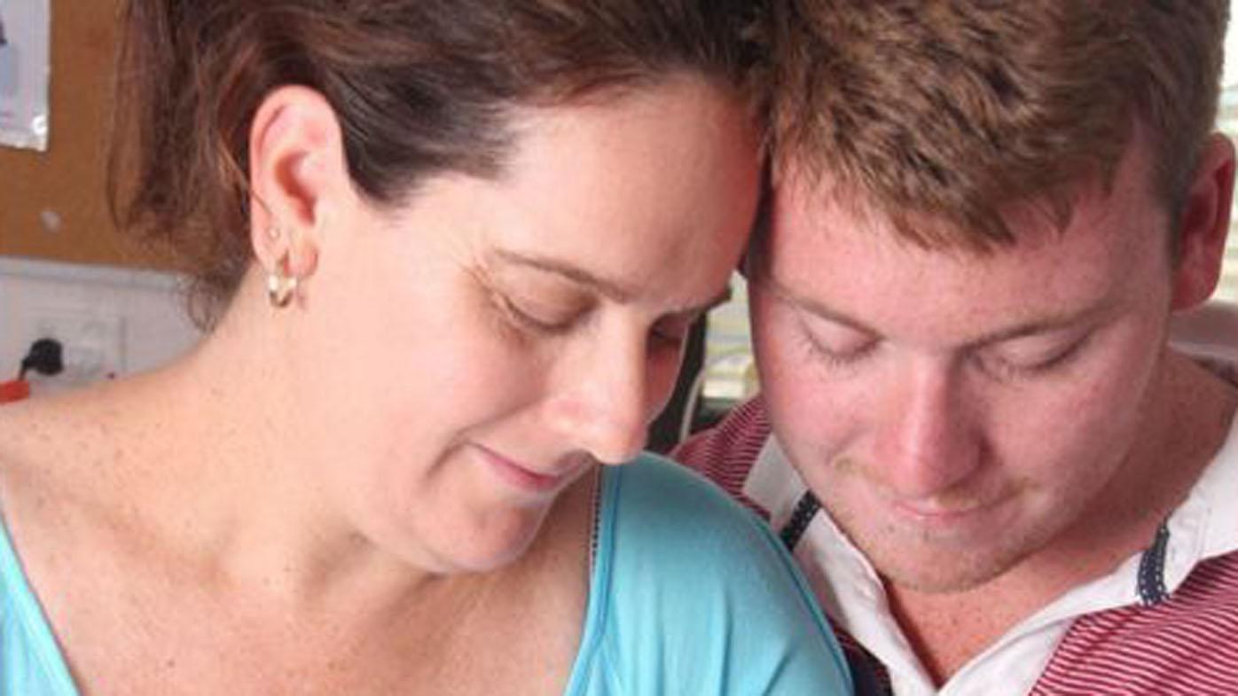Mass killer Anthony Harvey (right) with wife Mara.