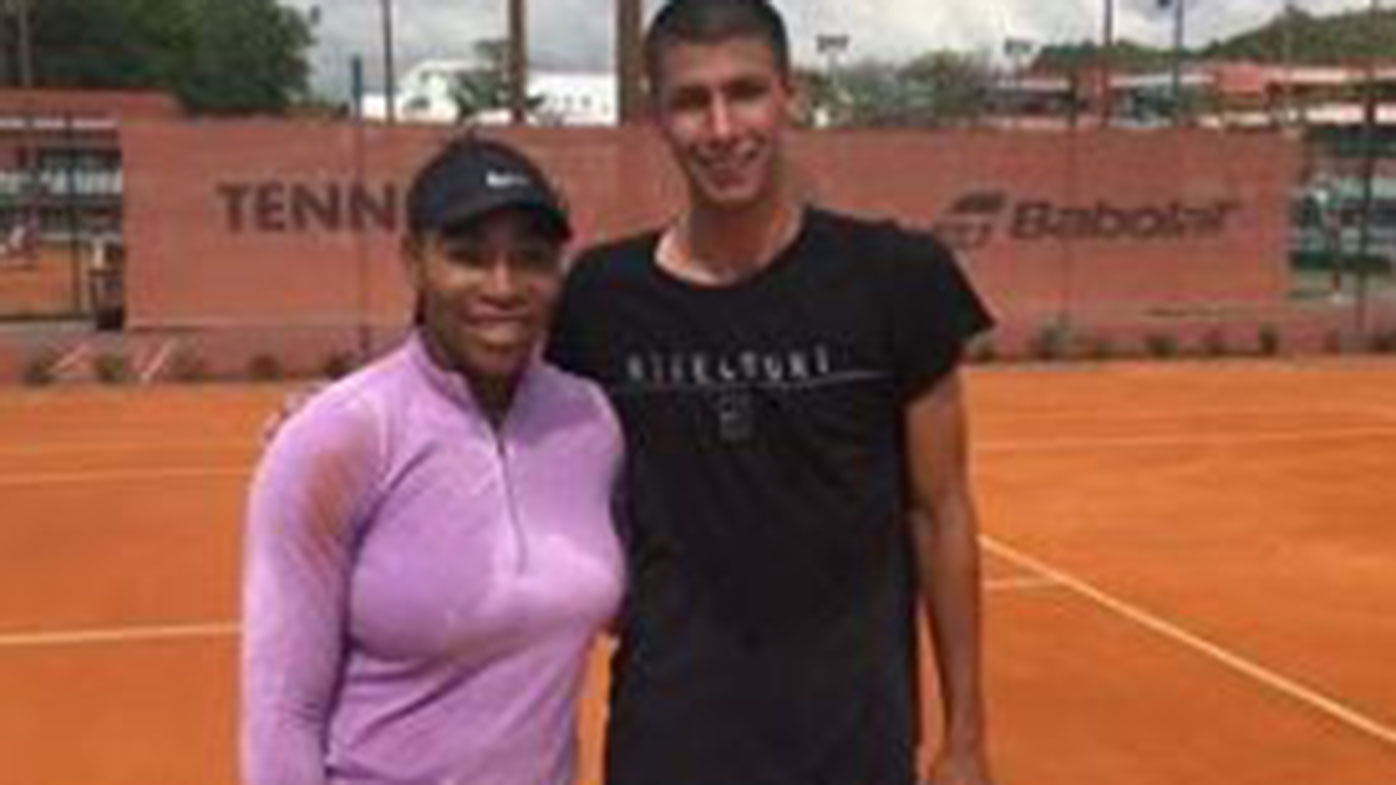 Alexei Popyrin with Serena Williams
