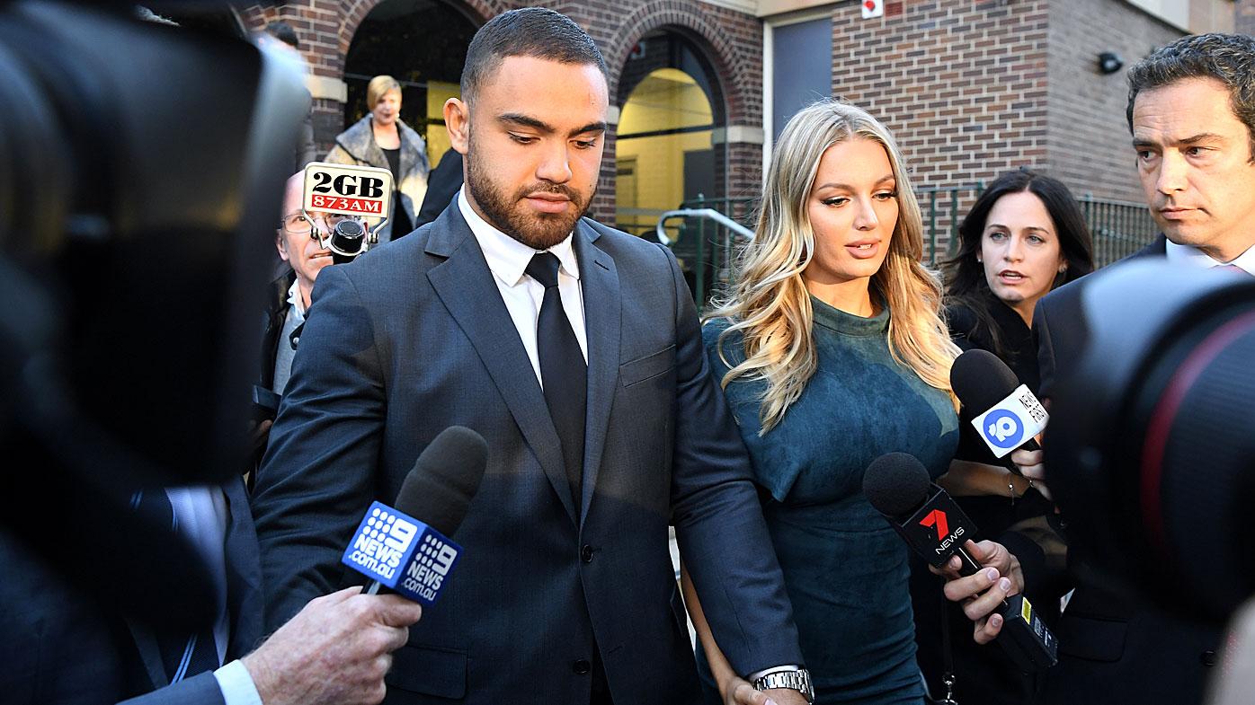 Dylan Walker leaves court
