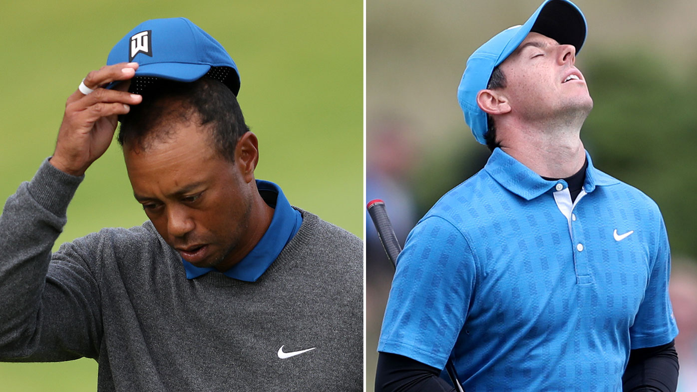 Tiger Woods and Rory McIlroy had shocking opening rounds at Portrush.