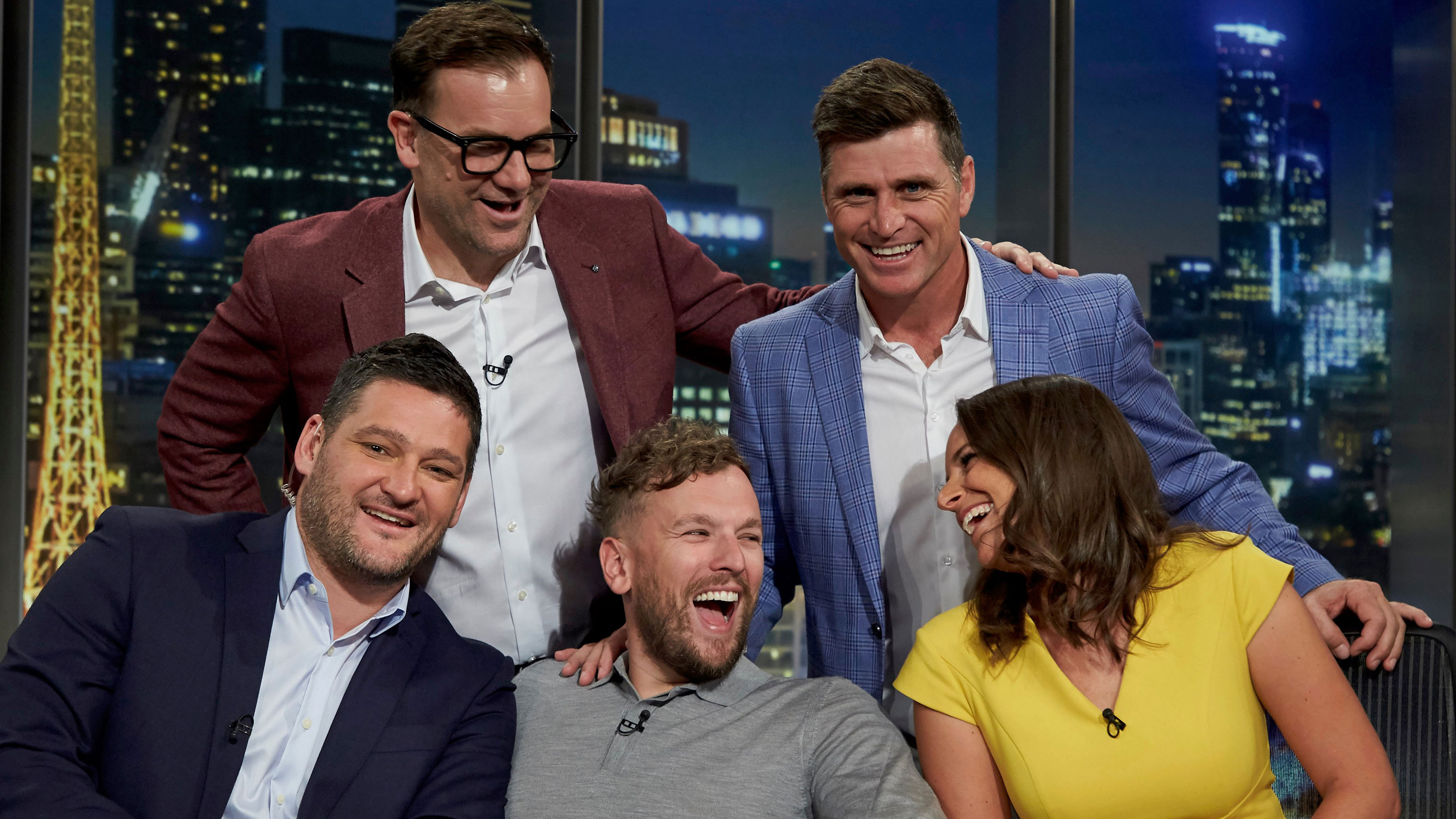 The new-look AFL Footy Show line-up.