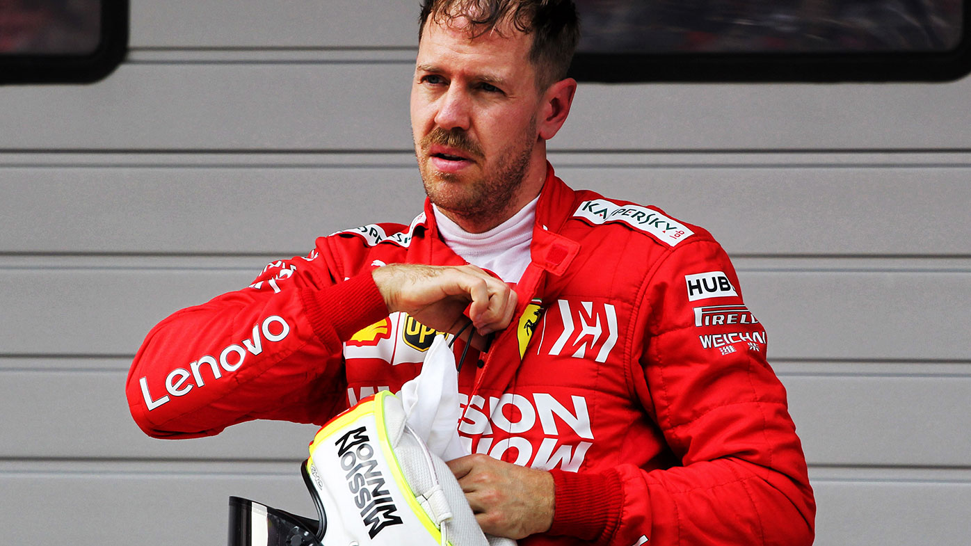 A frustrated Sebastian Vettel after the Chinese Grand Prix.