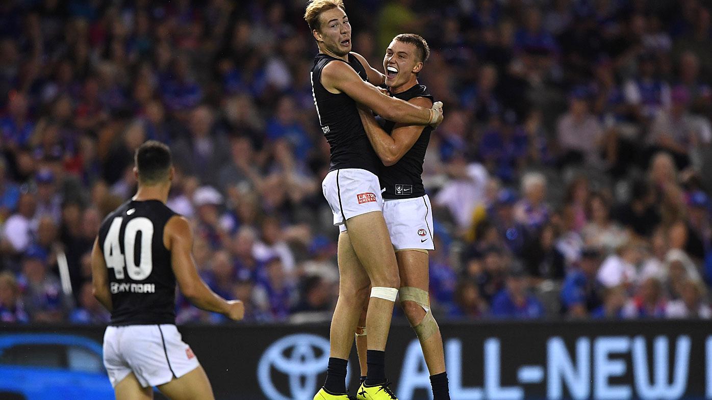 Carlton celebrate the win
