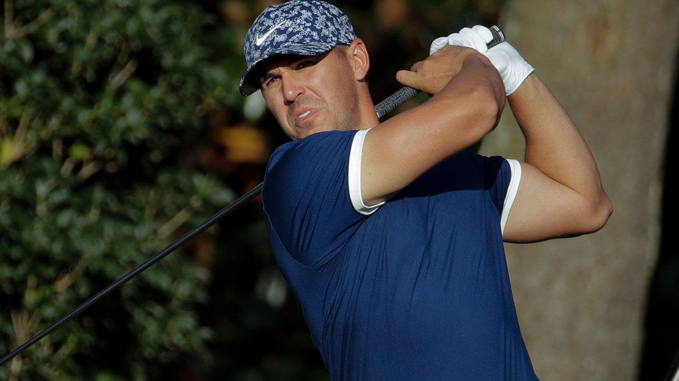 Brooks Koepka shares the first round lead at the Masters.