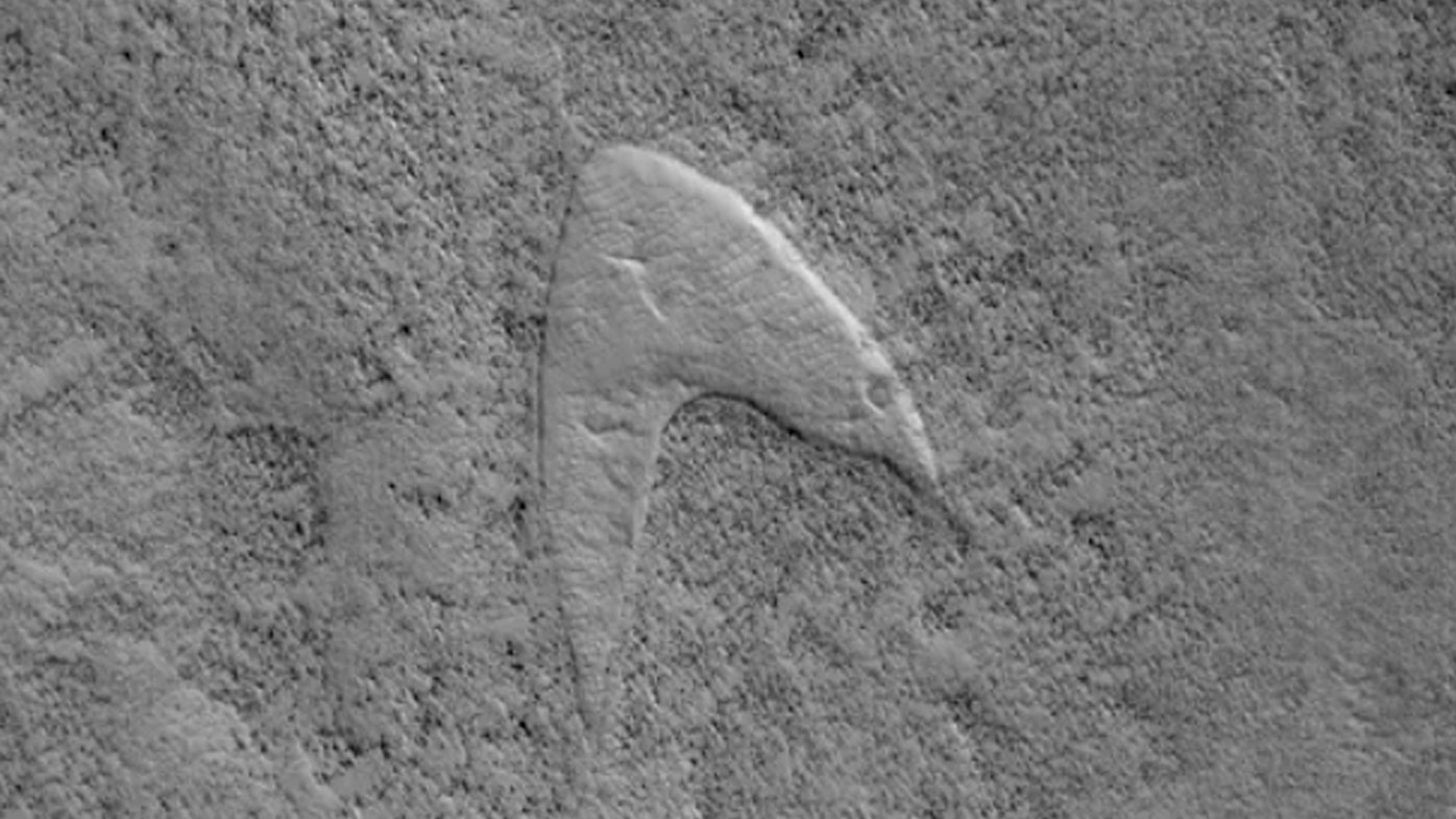 'Star Trek' logo found on Mars