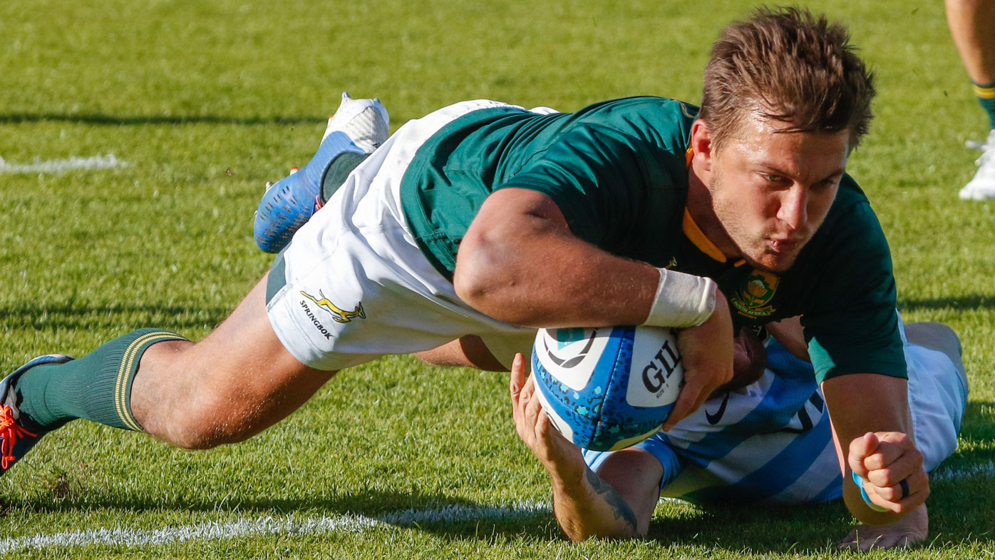 Springboks celebrate winning Rugby Championship for first time after dismantling Pumas
