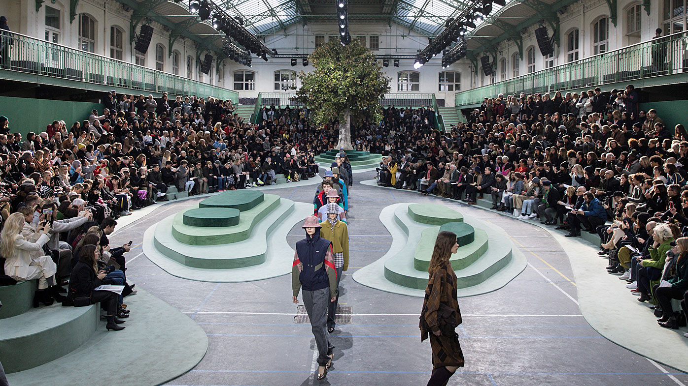 Lacoste's collection at Paris Fashion Week
