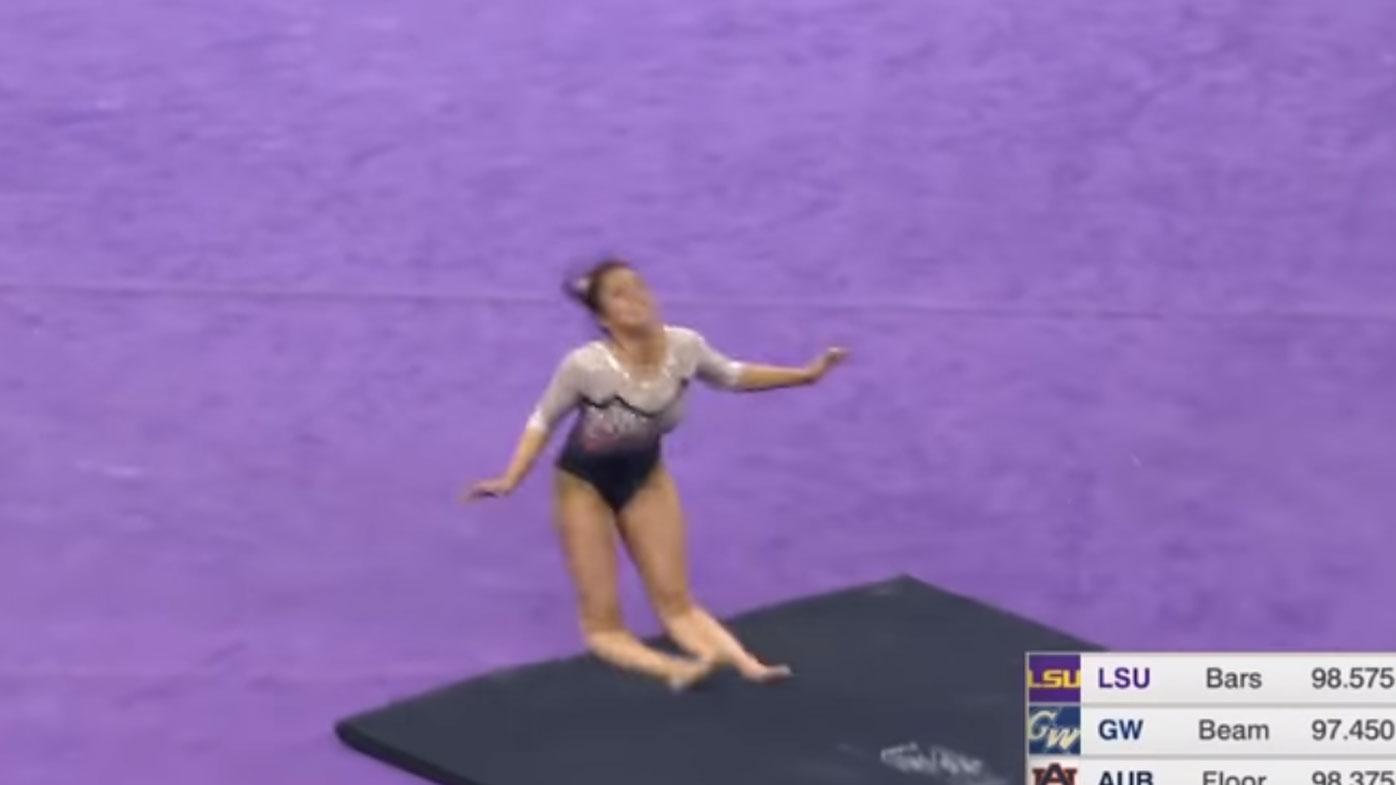 Auburn University gymnast breaks both legs in NCAA competition