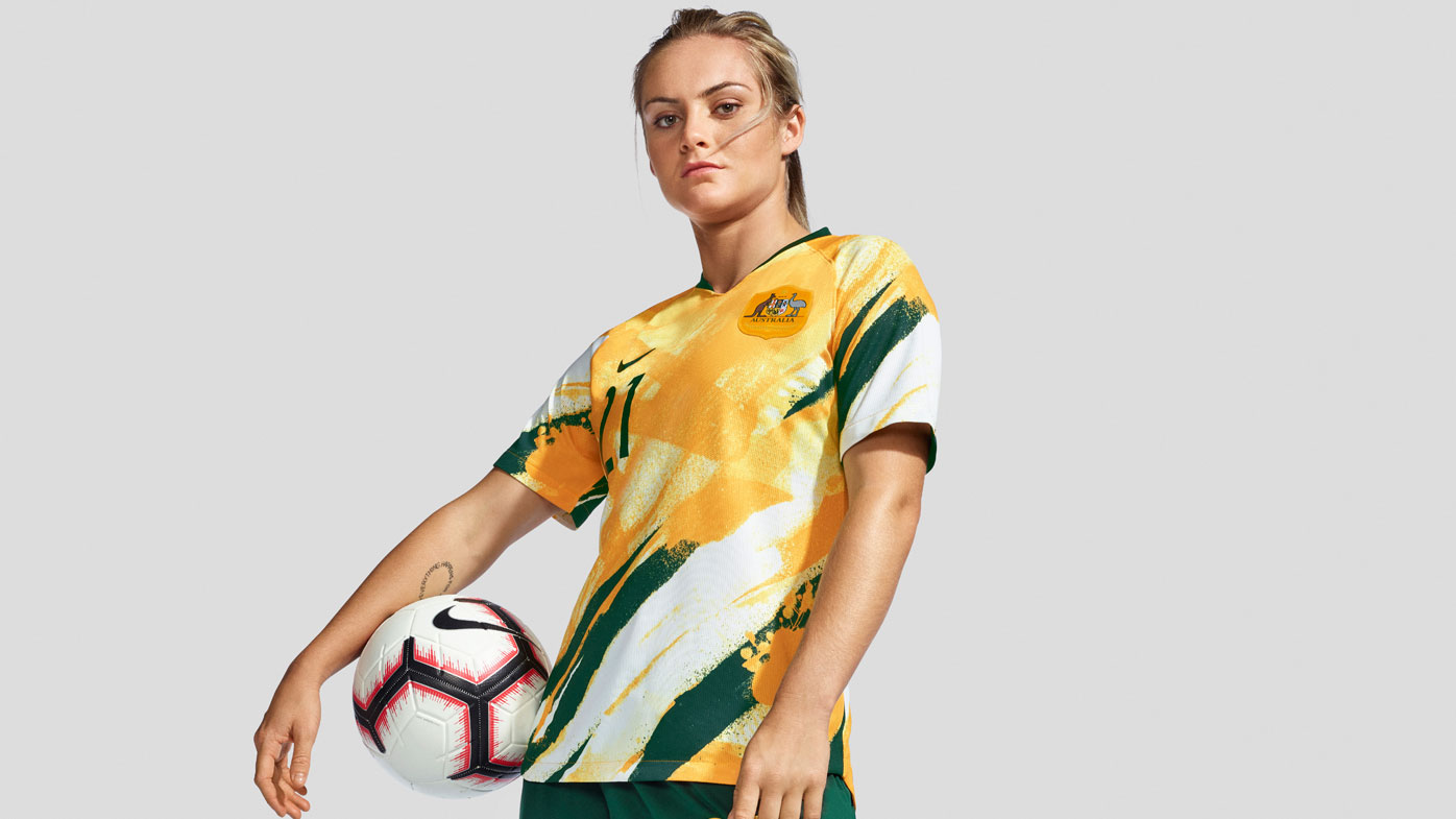 Ellie Carpenter wear the new Matildas Women's World Cup kit