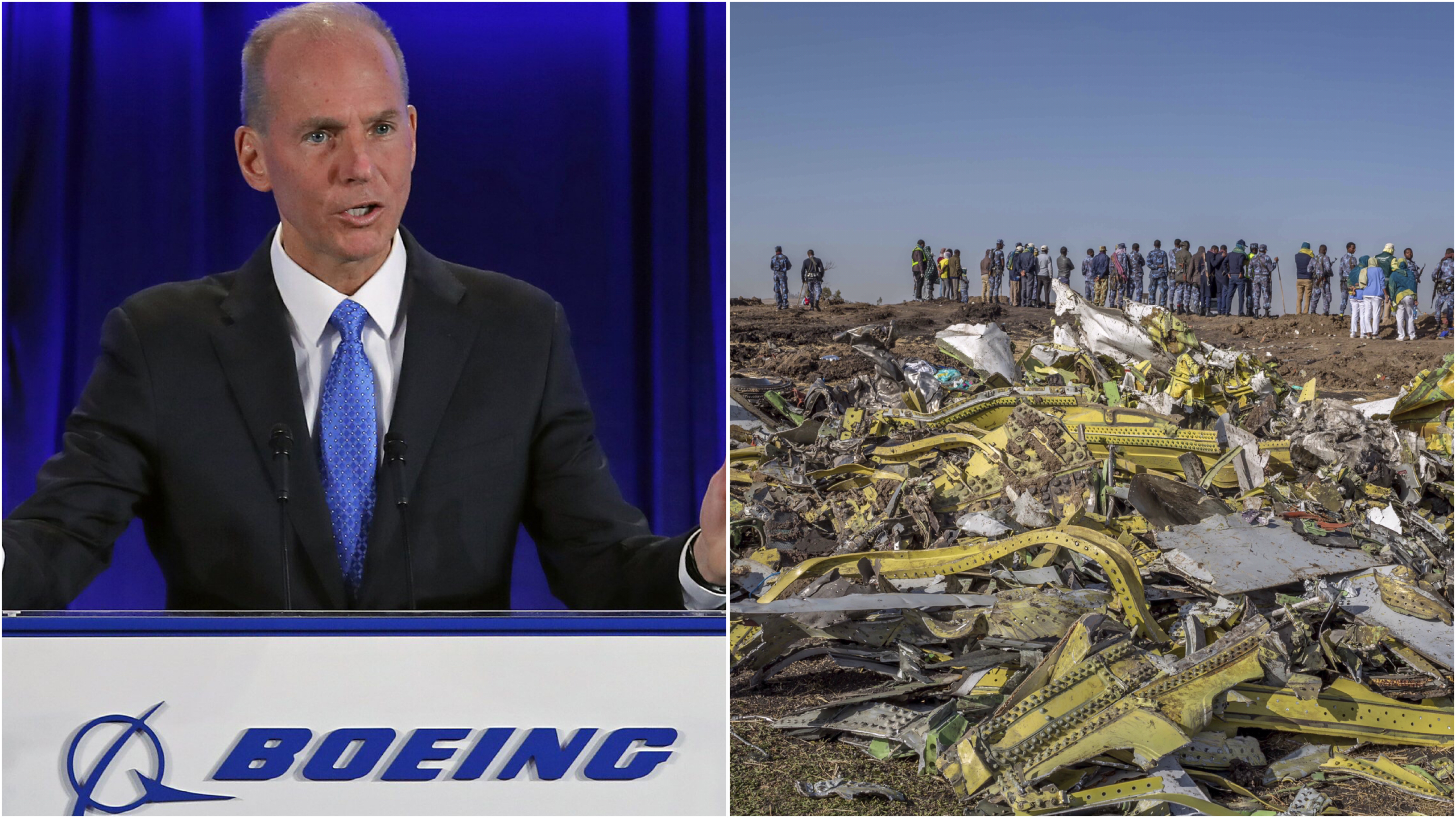 Boeing CEO Dennis Muilenburg has said the pilots involved in two deadly crashes did not 'completely' follow procedure.