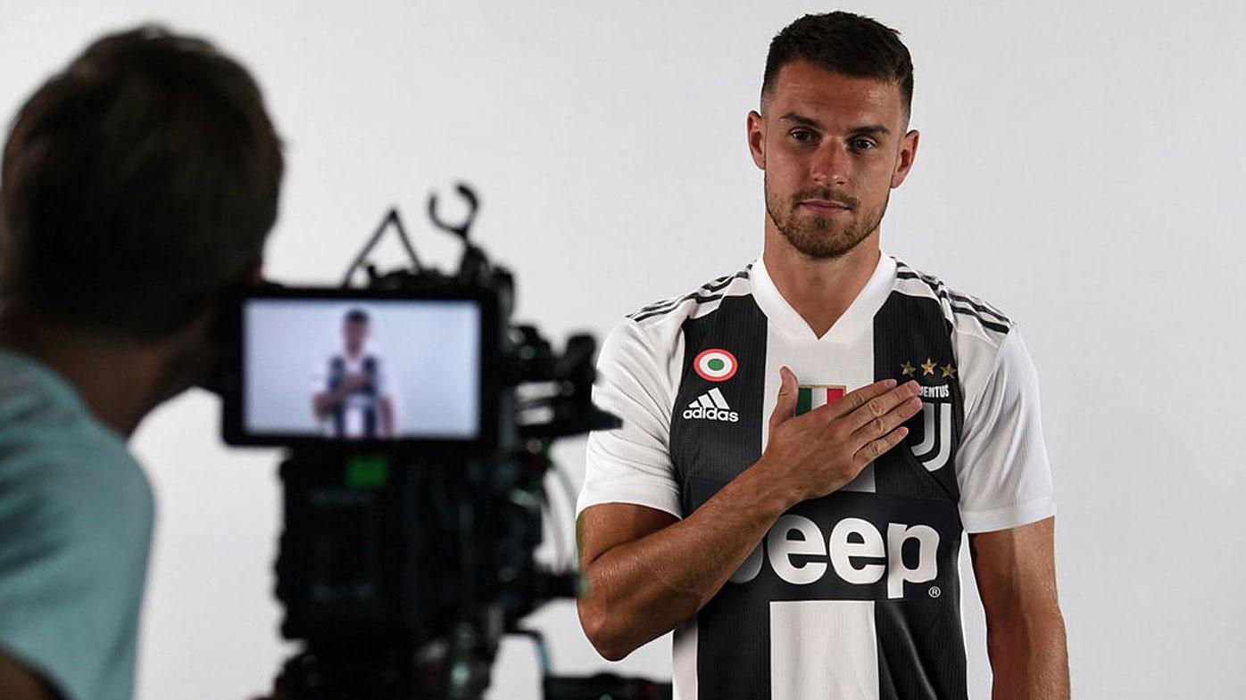 Ramsey in his Juventus kit