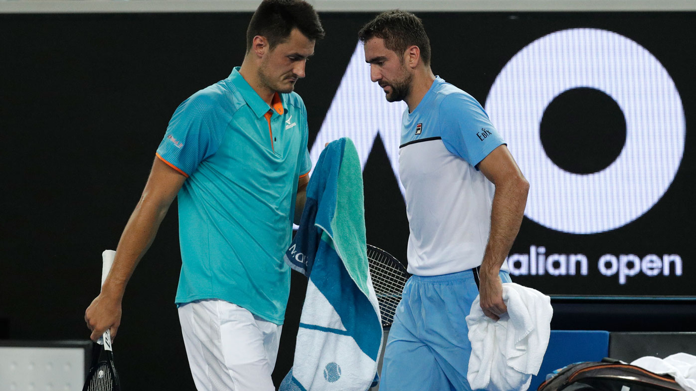 Bernard Tomic insults Lleyton Hewitt during post-match conference