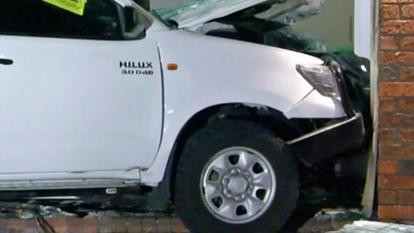Diners forced to leap from chairs after stolen ute slams into Melbourne shopfront