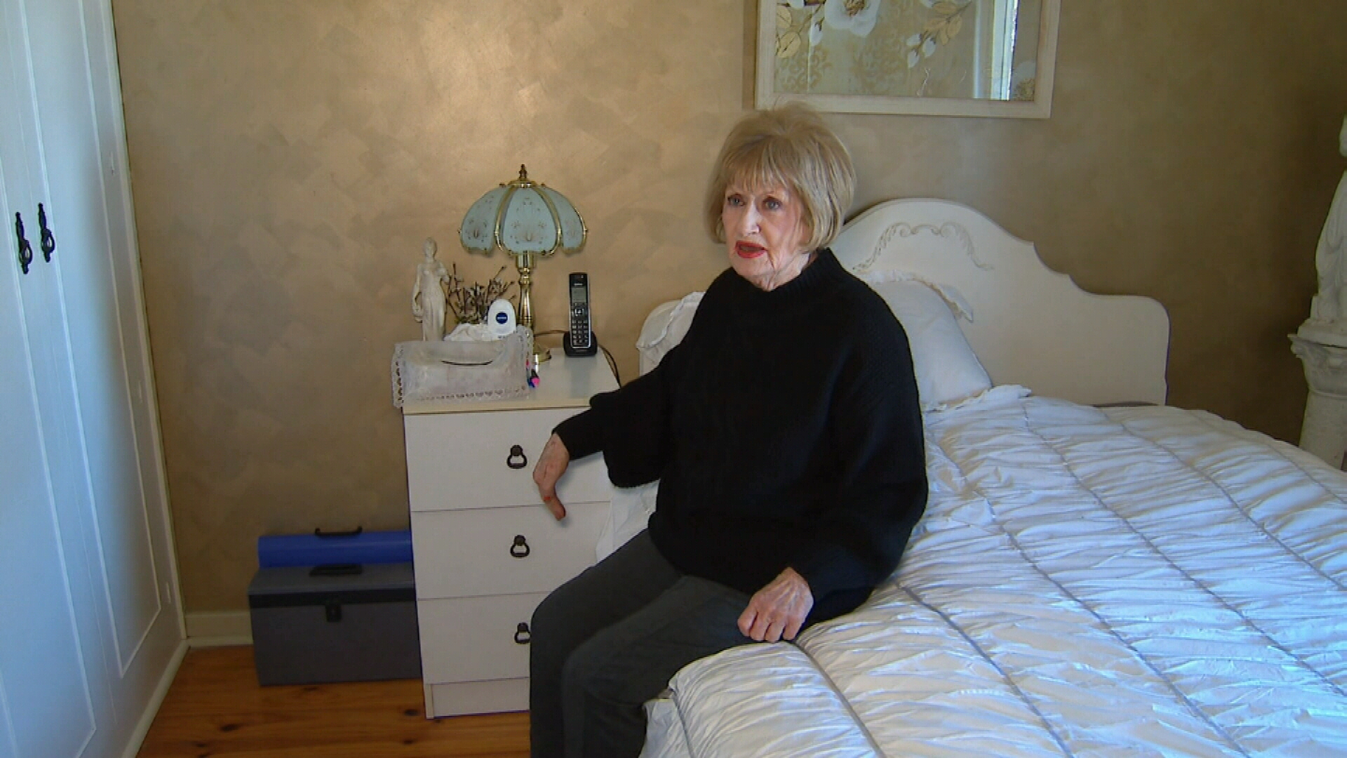 Elderly woman chases early morning intruder out of her home