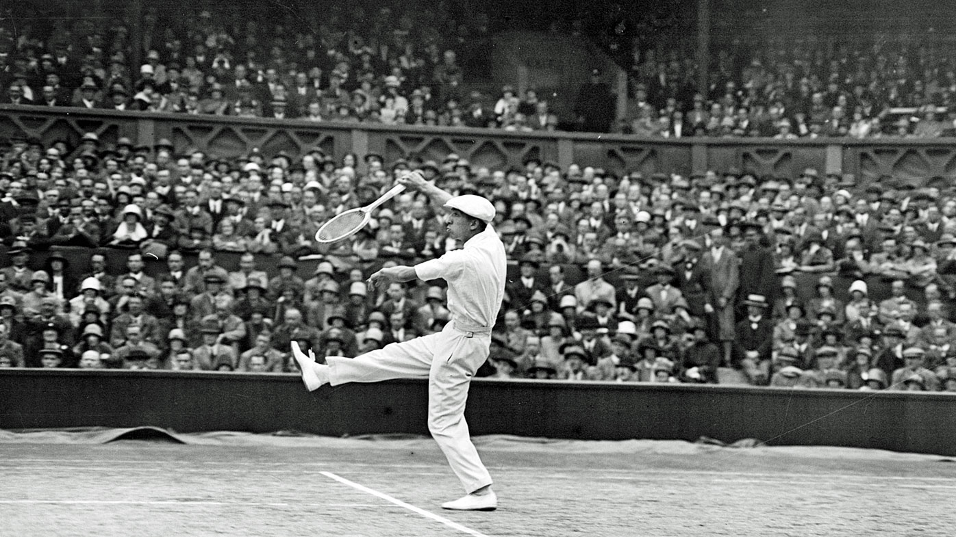 Rene Lacoste in 1925 at Wimbledon