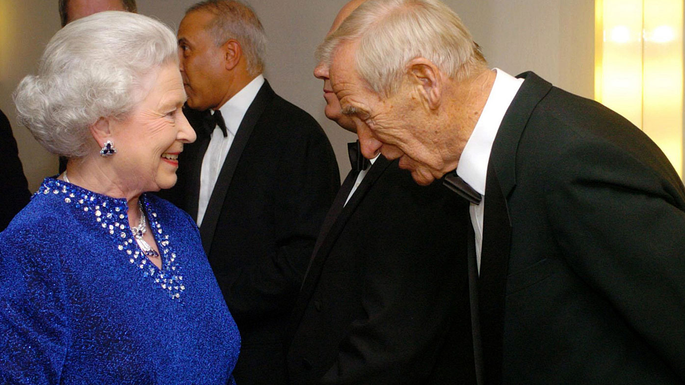 Bert Trautmann meeting the Queen later in life