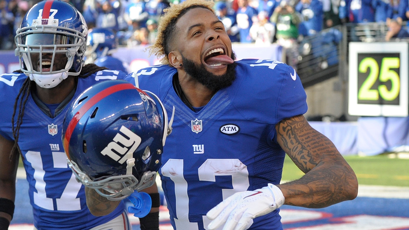 Odell Beckham Jr with the Giants