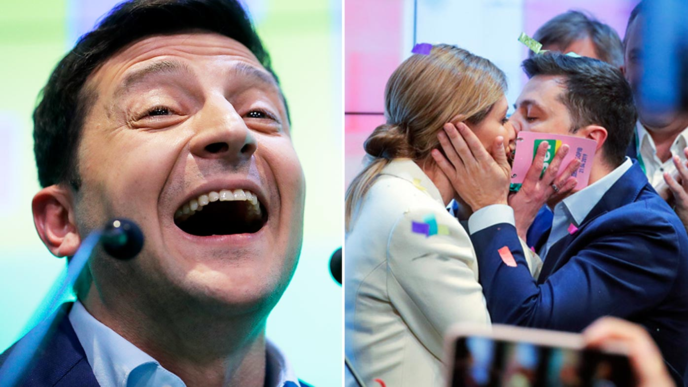 Comedian who vowed to unite Ukraine wins historic landslide victory