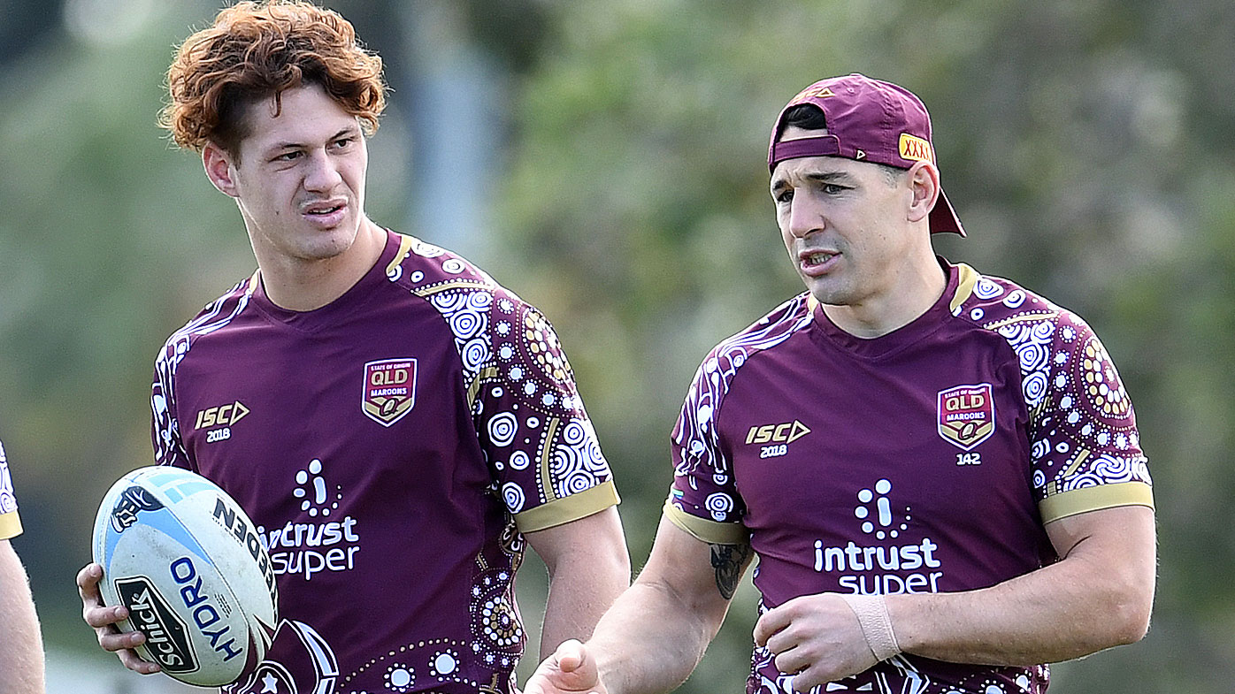 Ponga and Slater in 2018 Origin camp
