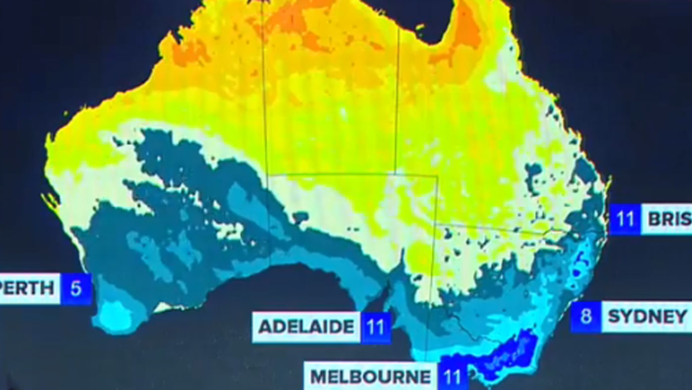 Bitter cold front to sweep Australia in time for the weekend