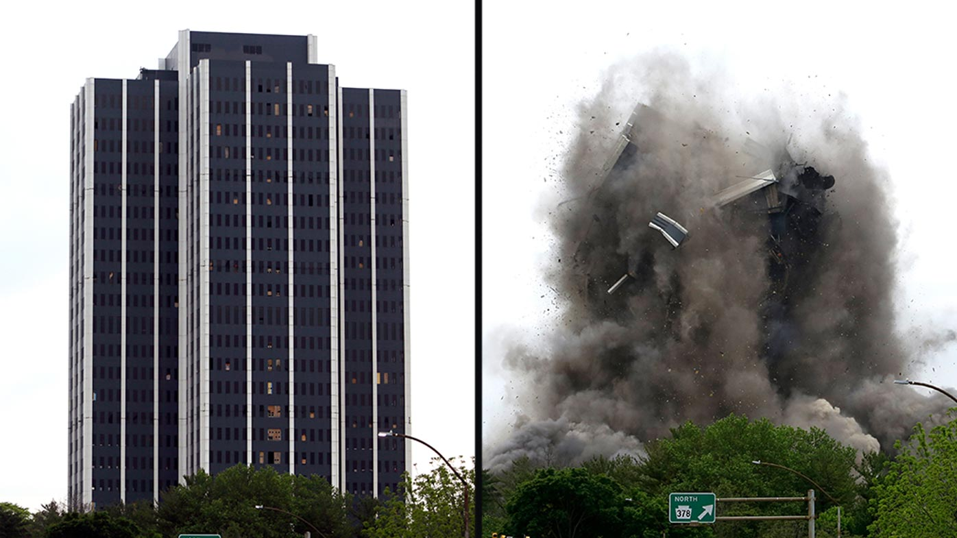 'End of an era' as US steelmaker's headquarters imploded
