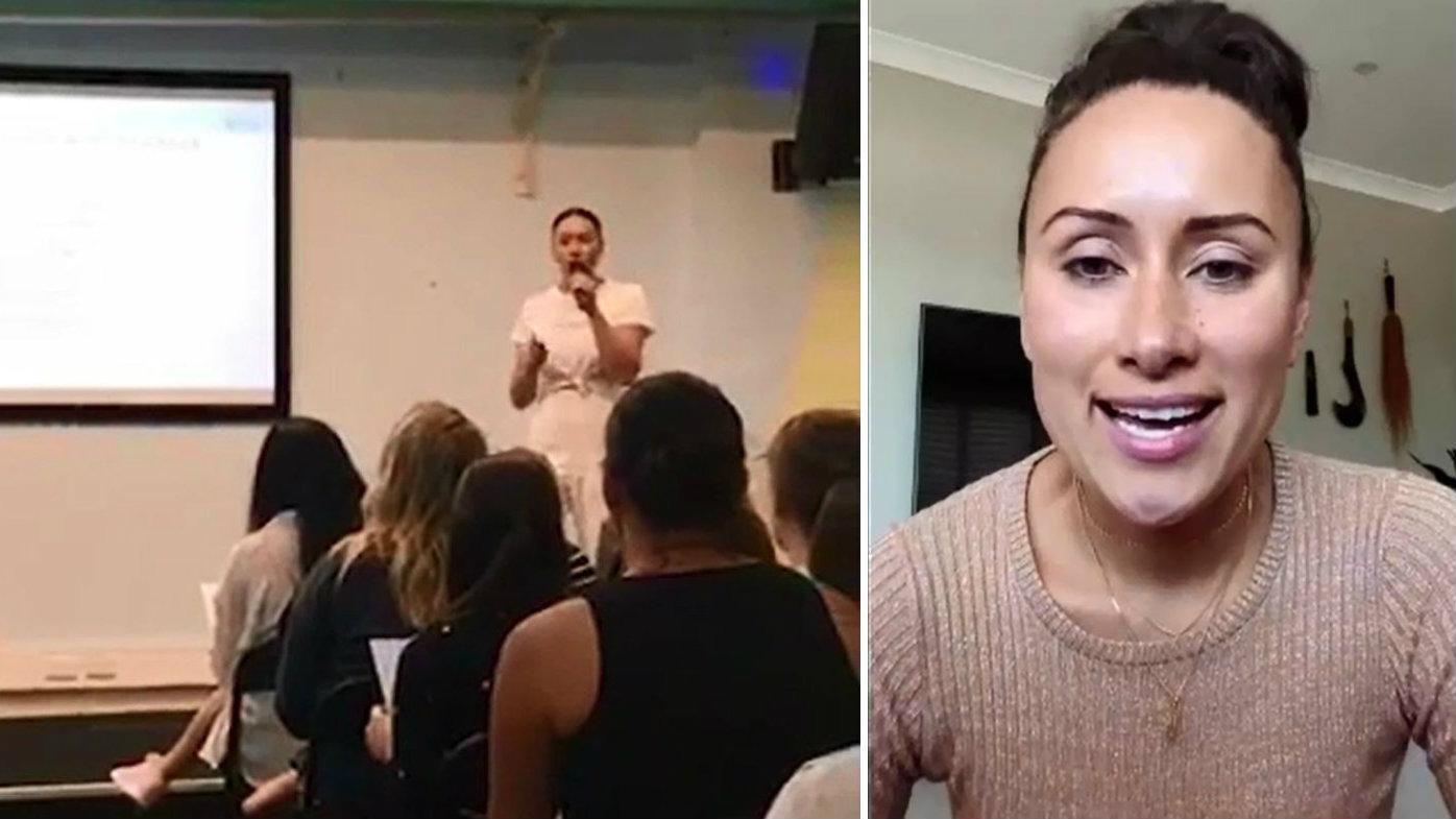 Footy star's wife cancels anti-vax seminars
