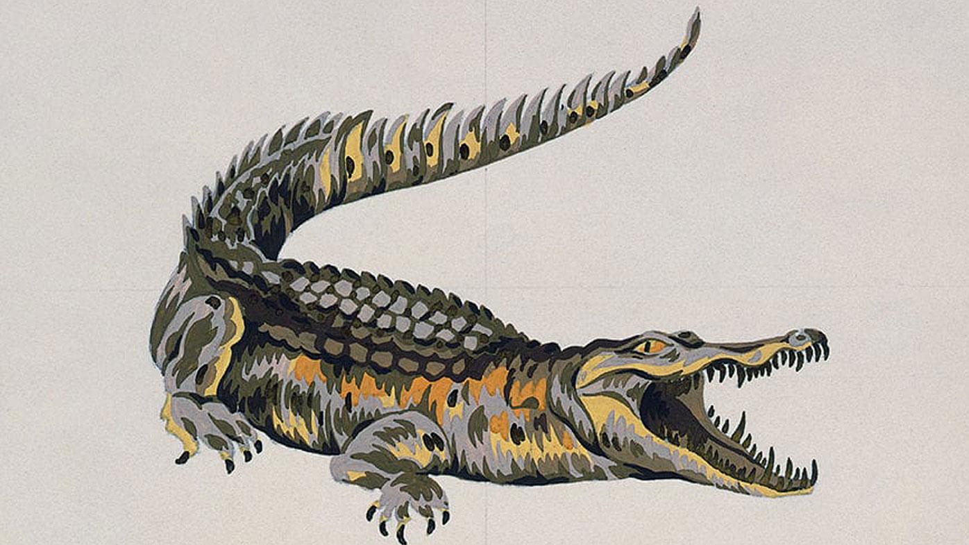 The original Locoste crocodile illustration