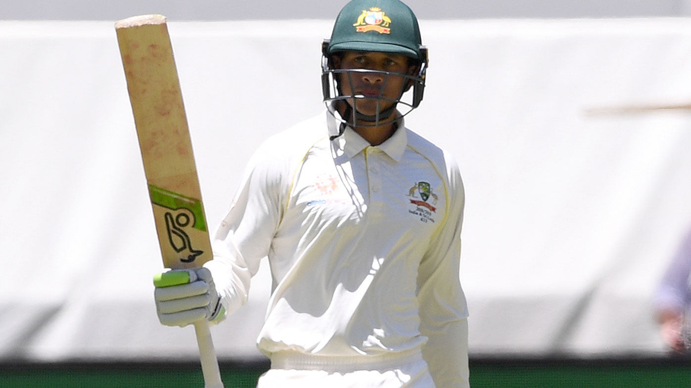 Usman Khawaja in the second Test against India.