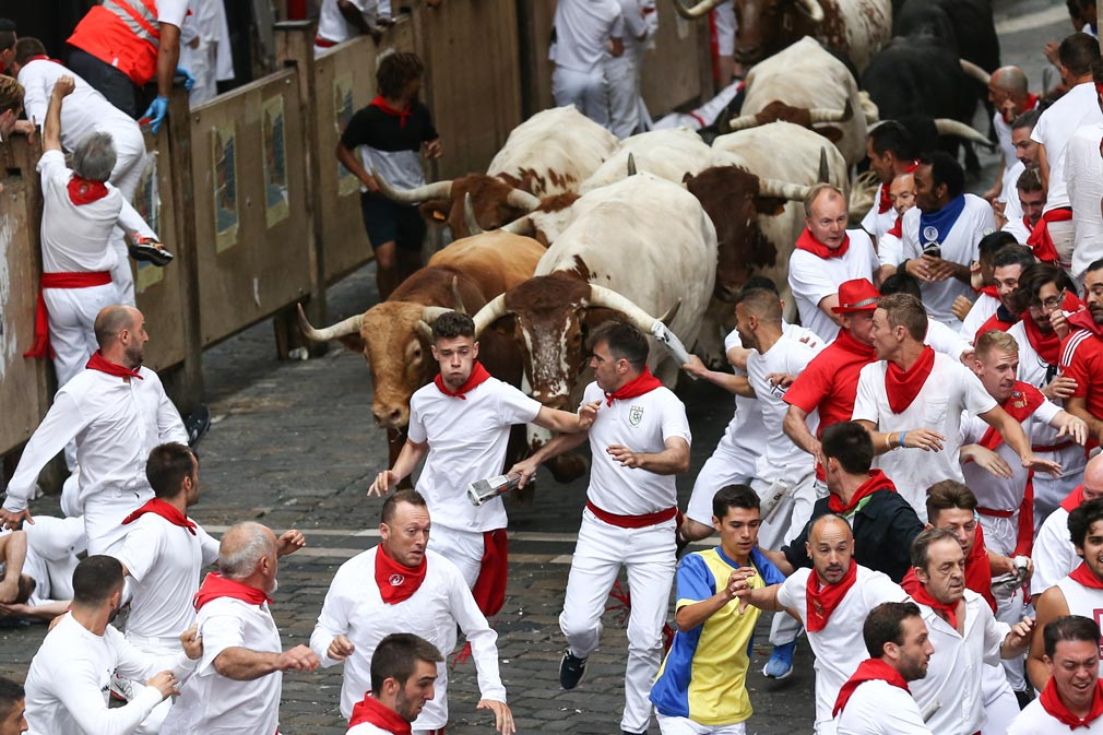 Three gored as running of the bulls begins in Spain