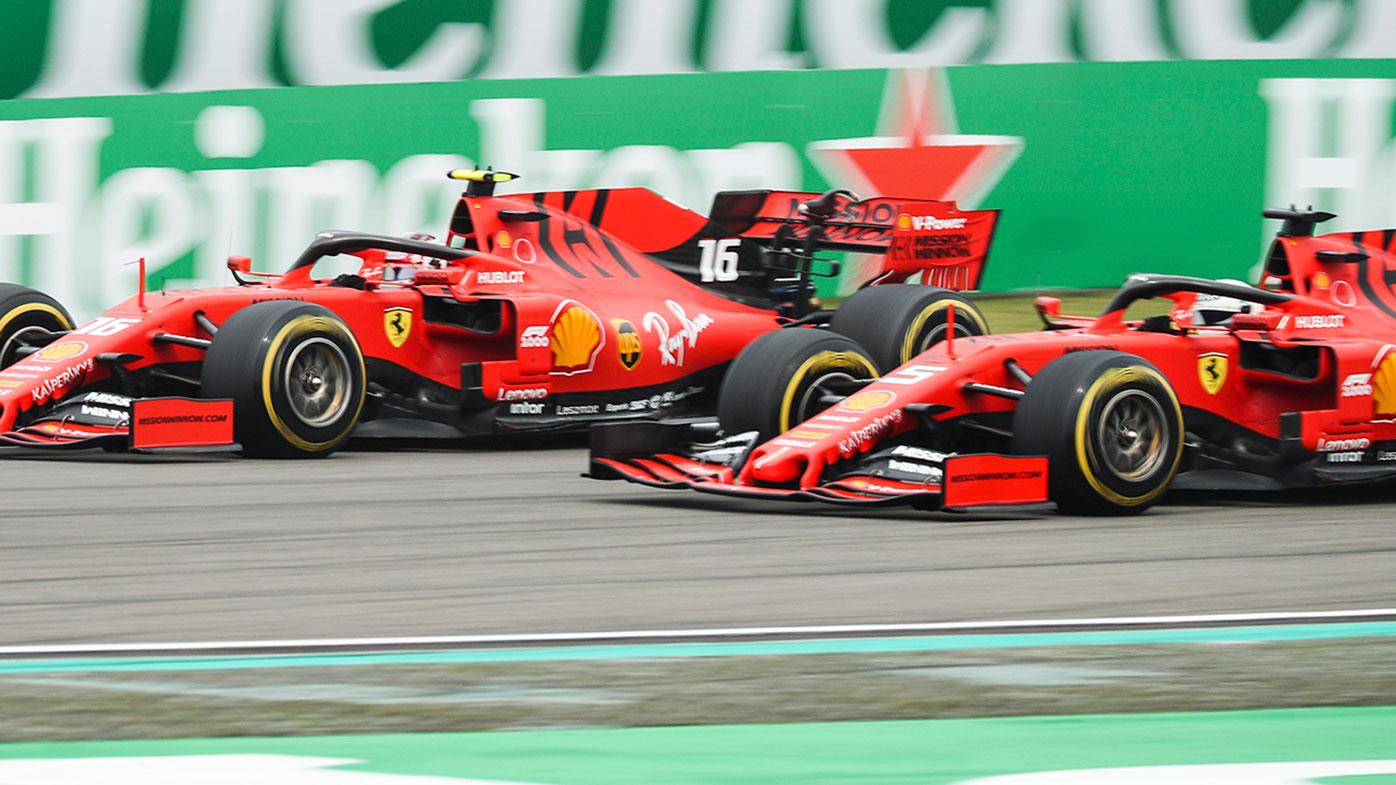 Charles Leclerc (left) and Sebastian Vettel during the Chinese Grand Prix.