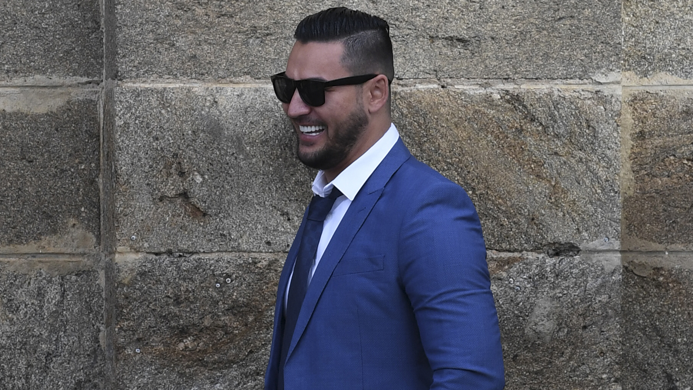 Salim Mehajer laughs as he leaves Cooma Correctional Centre.
