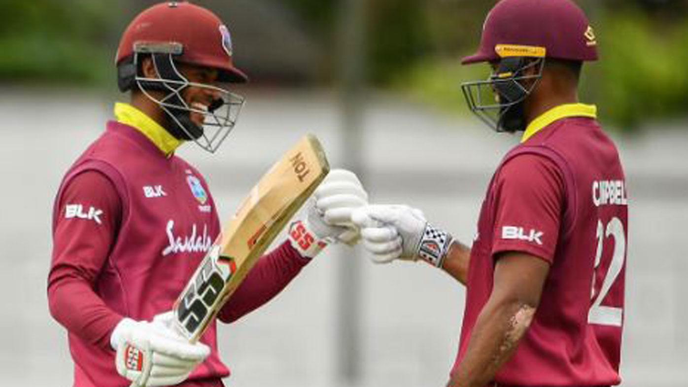 West Indies partnership, world record | Shai Hope, John