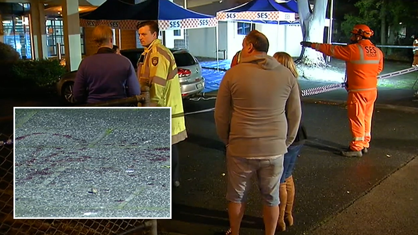 Man stabbed after alleged road rage incident outside police station