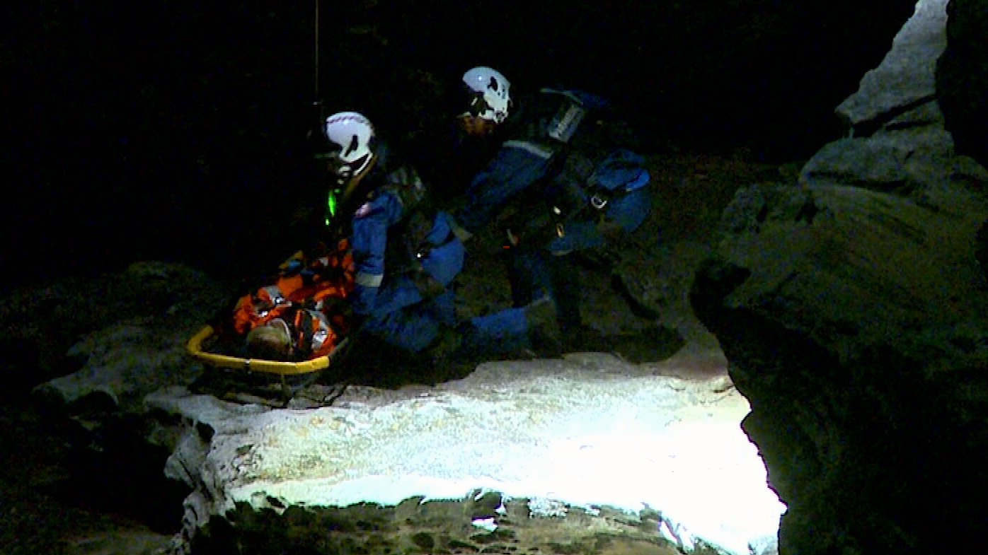 Rescue operation after teenager falls from cliff at Bondi