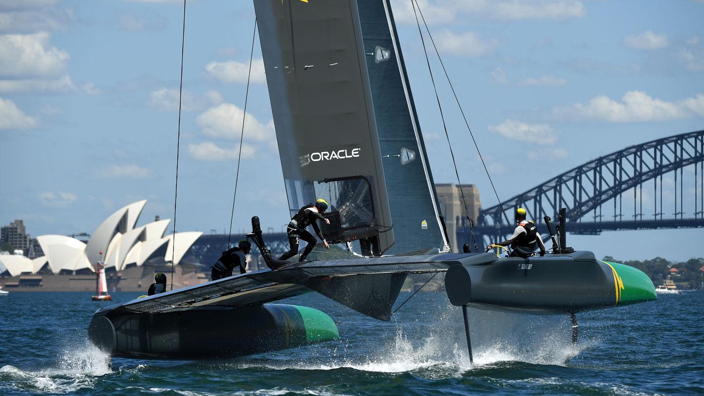 Australia race their F50 Catamaran