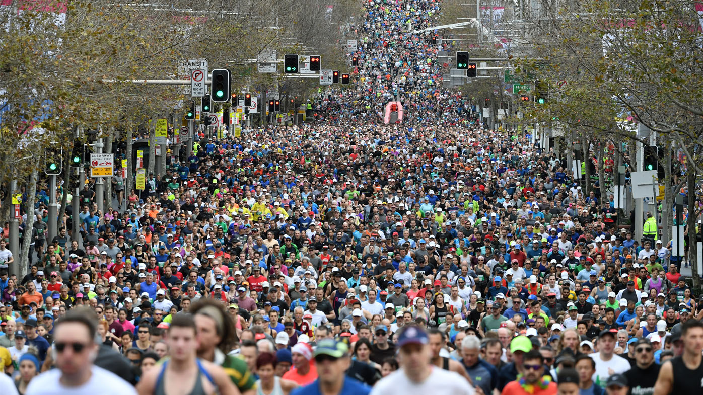 More than 80,000 runners brave the cold at Sydney's City2Surf