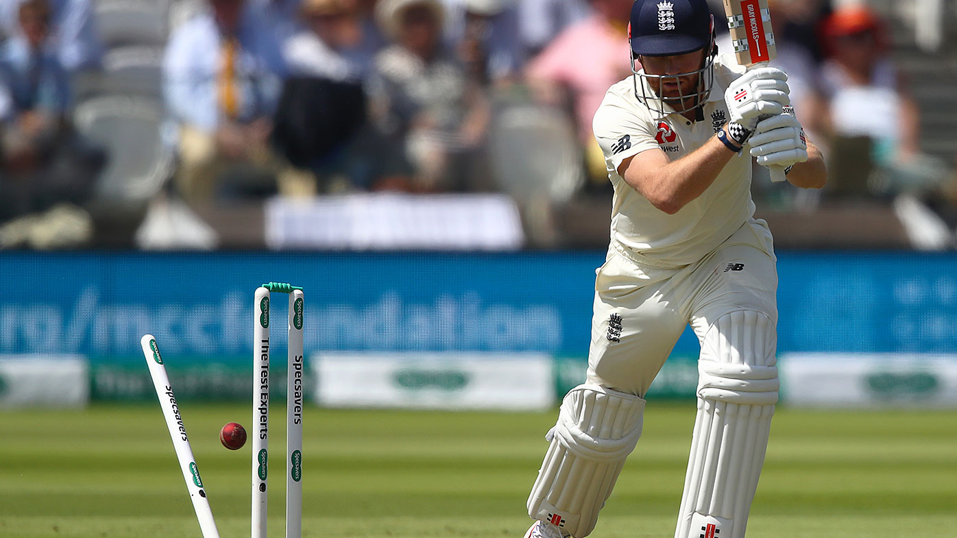 Jonny Bairstow is bowled by Tim Murtagh on the first day of the Test at Lord's.