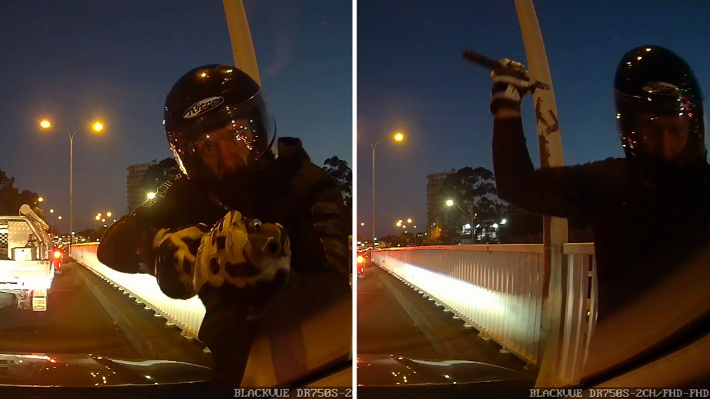 Motorcyclist 'aimed gun at driver's face during road rage attack'