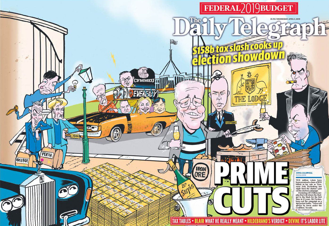 How newspapers across Australia reacted to the Federal Budget