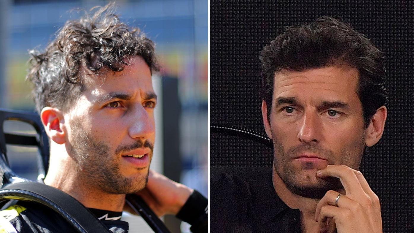 Mark Webber (right) says Daniel Ricciardo risks long-term damage to his career if Renault's struggles continue.