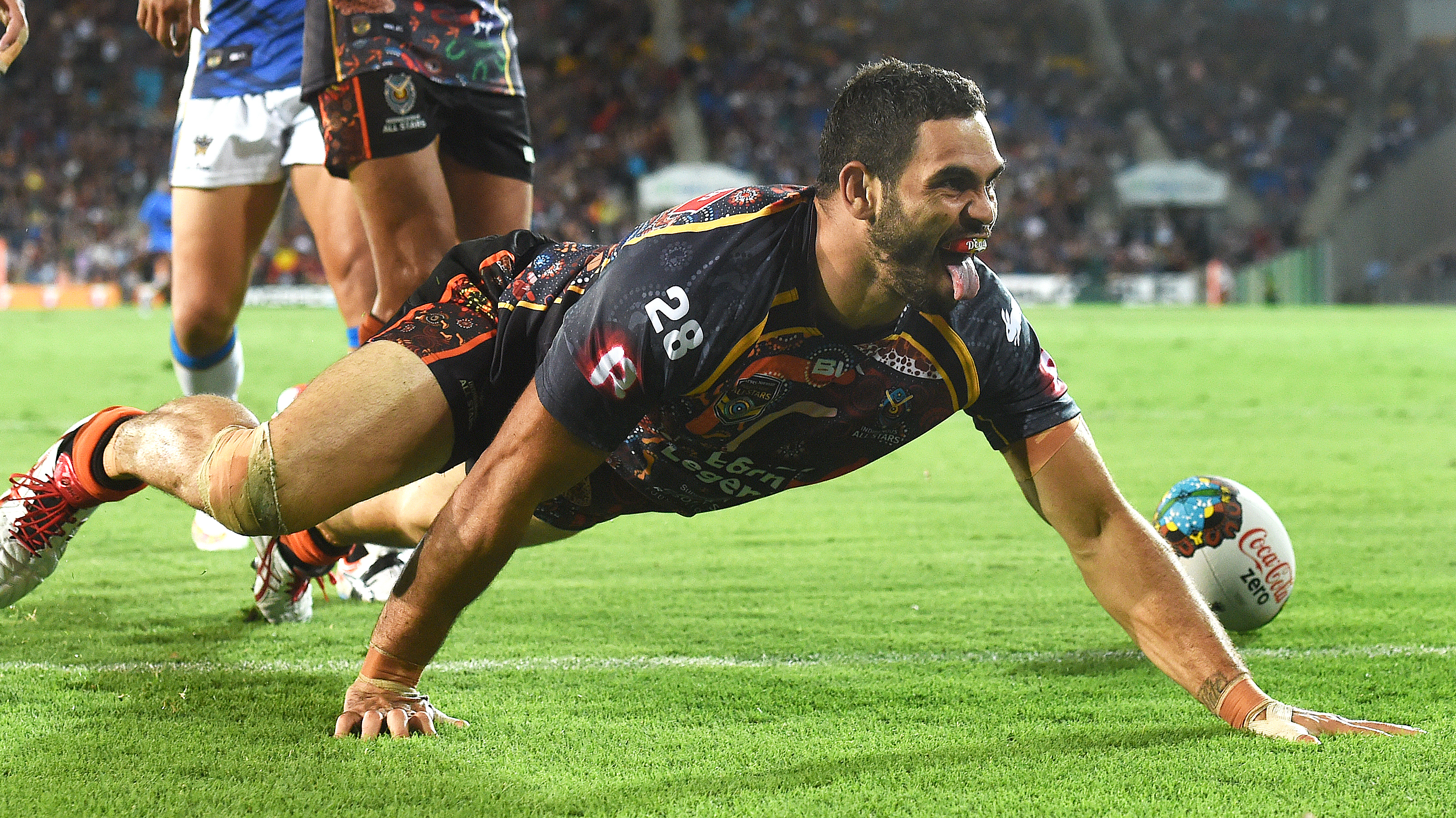 Greg Inglis made his 'goanna' celebration famous.