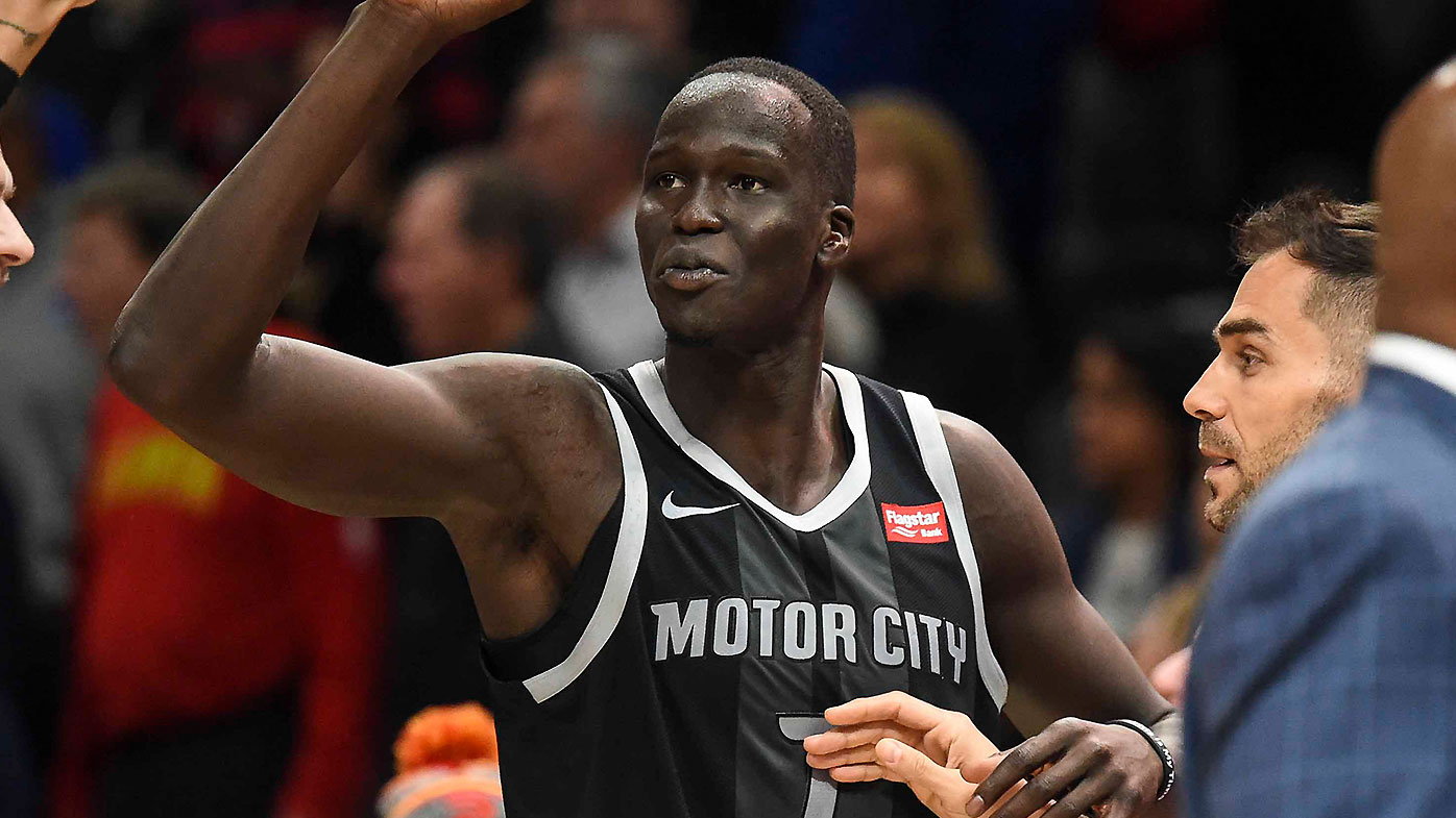 Commentators left stunned as late Thon Maker triple leads to Pistons win