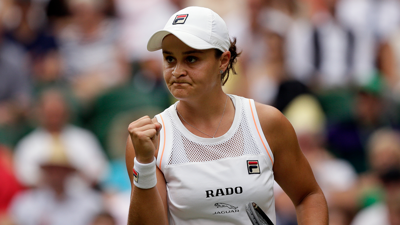 Ashleigh Barty waltzes into Wimbledon fourth round with straight sets victory over Harriet Dart
