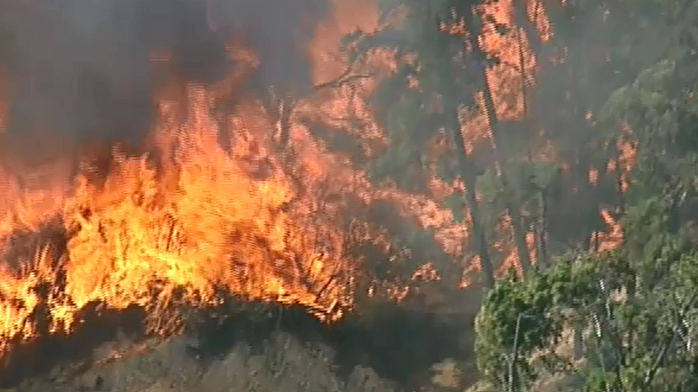 Residents evacuated as out-of-control bushfire burns south of Ballarat