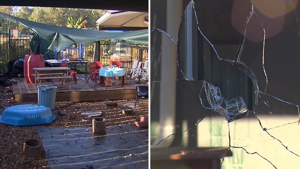 'Youths who set fireworks off at childcare centre' damage playground