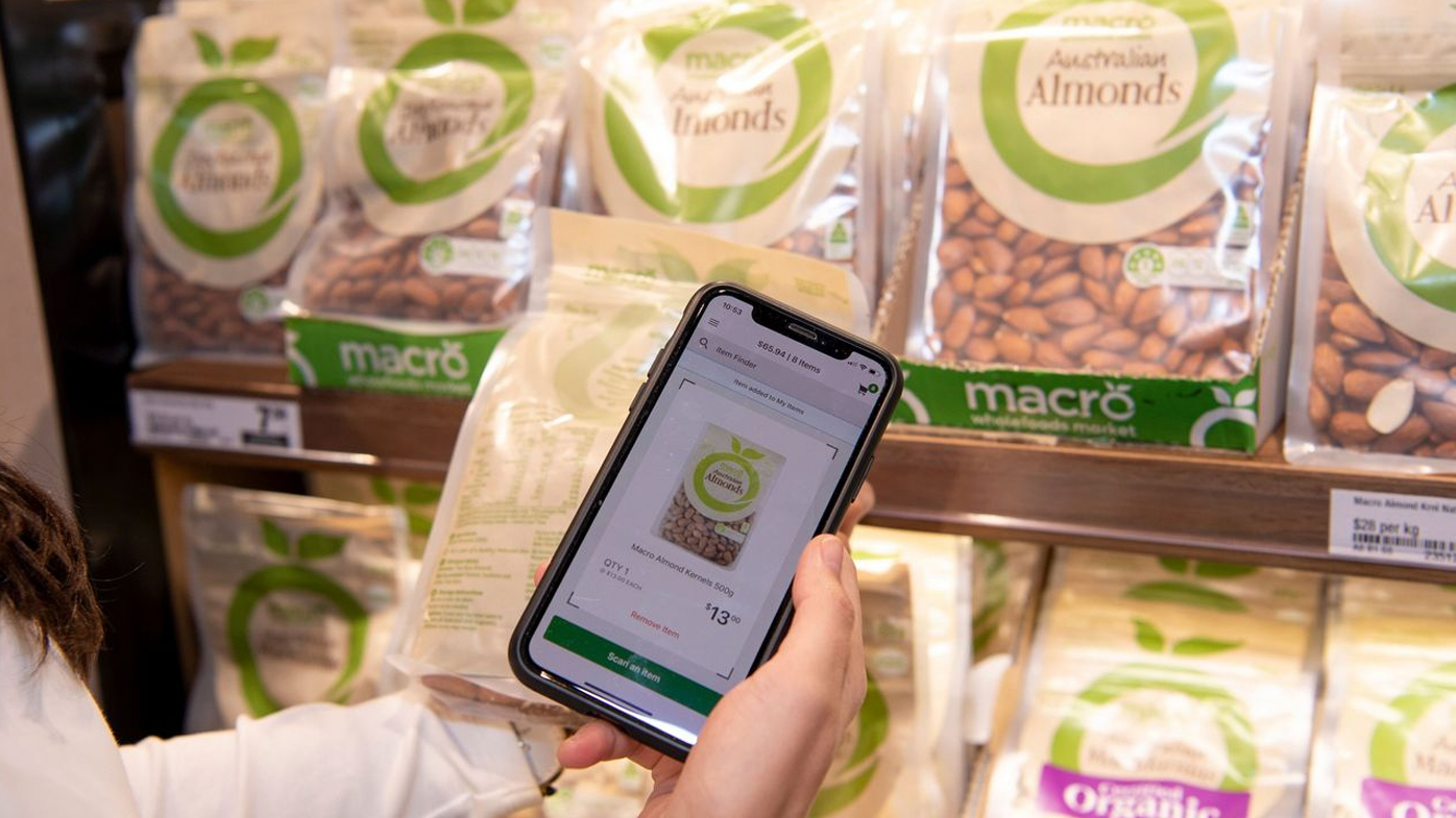 Customers scan the product when they grab it off the shelf.
