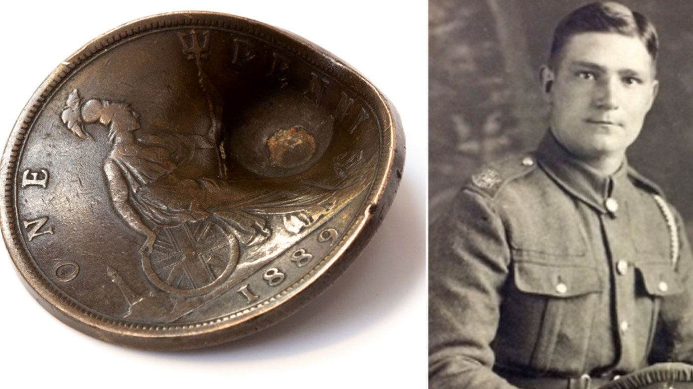 News UK: Lucky penny that saved World War I soldier's life to