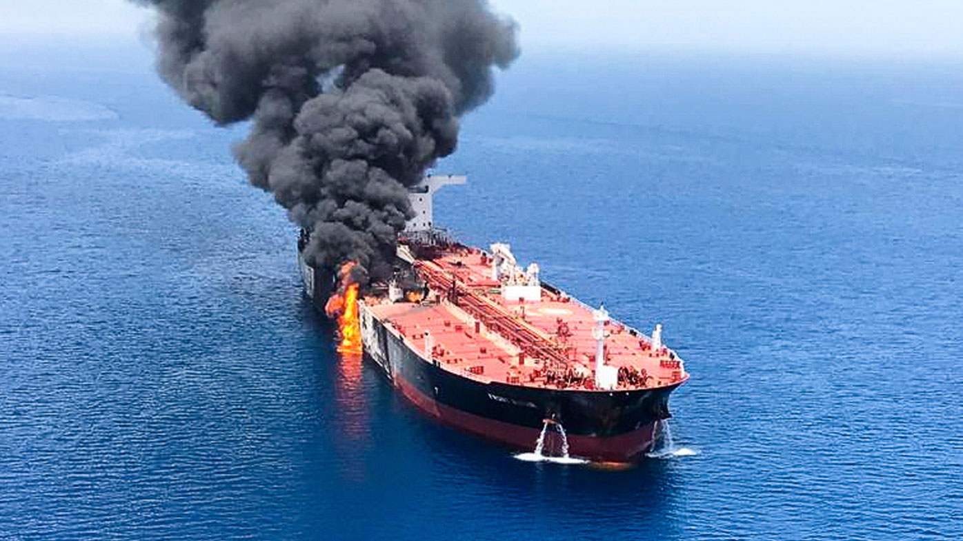 Iranian boat 'fired at US drone prior to tanker attack'